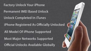 Factory unlock your iPhone. Permanent IMEI based unlock. Unlock completed in iTunes. iPhone registered as officially unlocked. All models of iPhone supported. Most major networks supported. Official unlocks available globally.