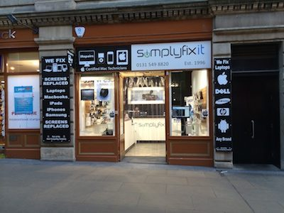 SimplyFixIt at Waverley Steps, Edinburgh