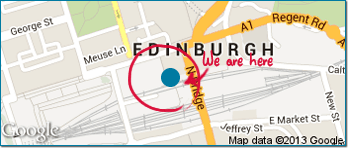 Map showing the location of SimplyFixIt at Waverley Steps, Edinburgh