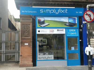 SimplyFixIt on Bath Street, Glasgow.