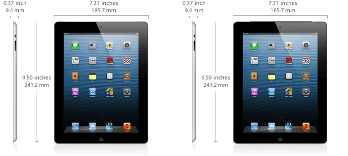 iPad 4 specifications.