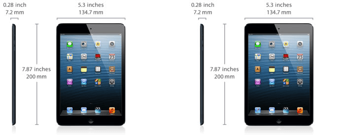 iPad Mini specifications.