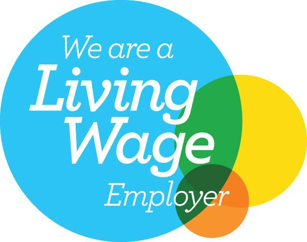 Living wage logo confirming that SimplyFixIt is a Living Wage employer