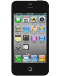 a black iPhone 4.