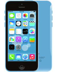 a blue iPhone 5c.