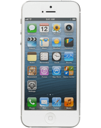 a white iPhone 5.