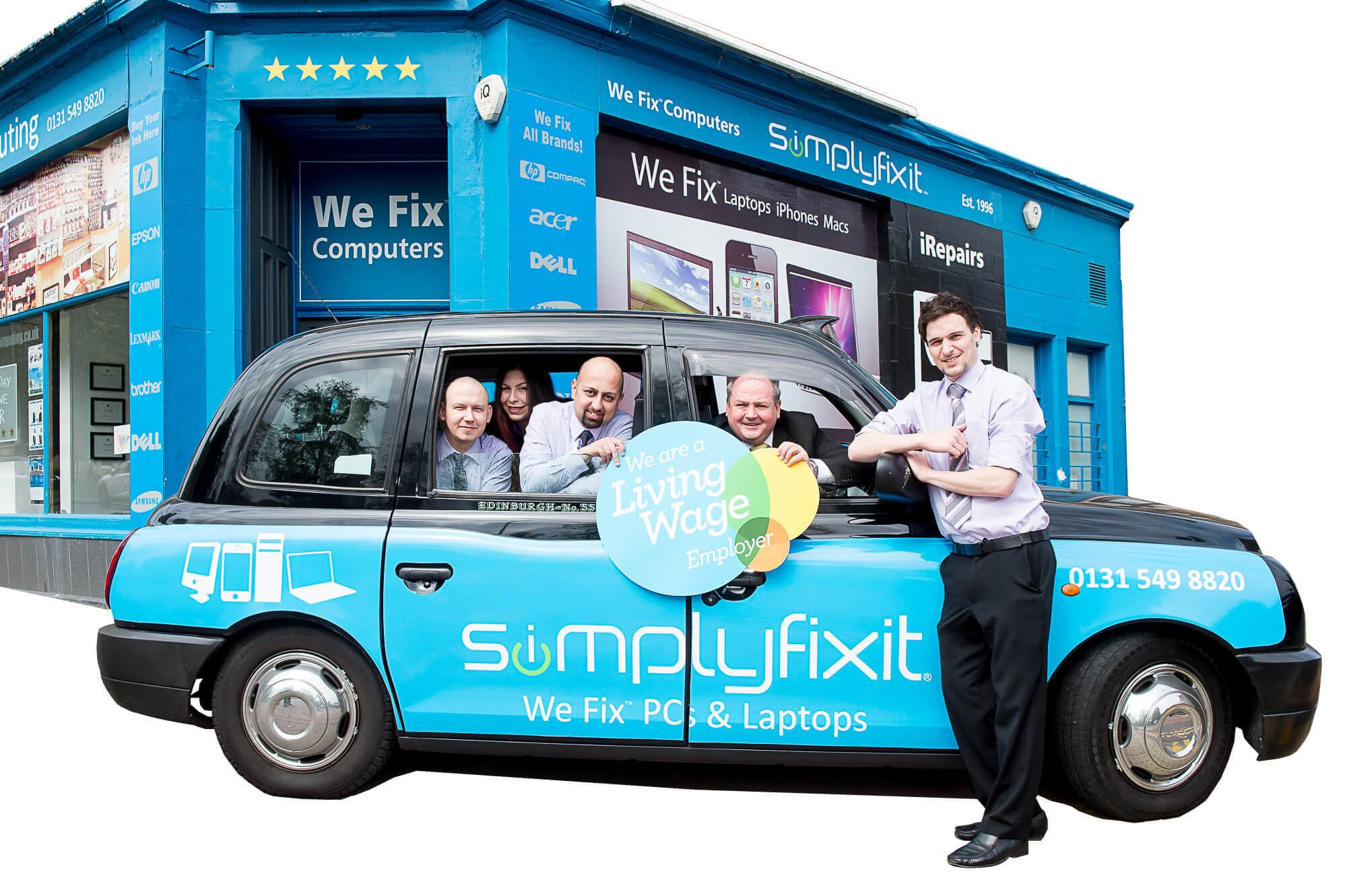 The Simply Fix It team, who all earn The Living Wage.