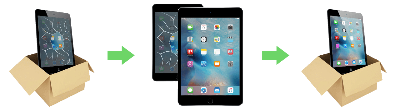 Send your iPad Mini 2 with Retina Display to us for a FAST repair.